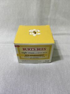 Burt's Bees Skin Nourishment Night Cream w/Royal Jelly 99% Natural 1.8 oz.