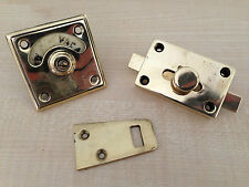 Antique Brass Bronze Toilet WC Door Lock Latch Bolt Vacant Engaged (GR144)