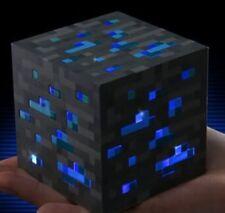 Minecraft Nachtlicht, Light Up, Leuchtwürfel, Dia, Beleuchtung, blau- NEU, OVP