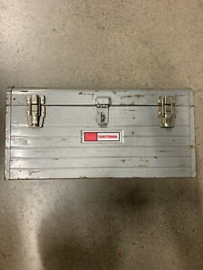 "VINTAGE 18"" SEARS CRAFTSMAN 6500 TOOL BOX WITH TRAY INSERT GREY STEEL 18X8X9"