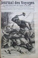 JOURNAL DES VOYAGES N° 206 de 1881 A TRAVERS L AUSTRALIE LES INDIGENES