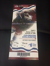 2006 Colorado Avalanche vs Detroit Red Wings Season Ticket Stub - September 25