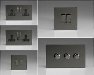 Varilight Screwless Iridium Black Range - Black Inserts & Iridium Switches