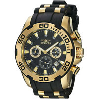 Invicta Men's Pro Diver 22312 Gold Rubber Quartz Fashion Watch