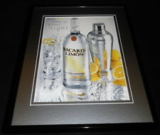 2004 Bacardi Limon Rum Framed 11x14 ORIGINAL Vintage Advertisement