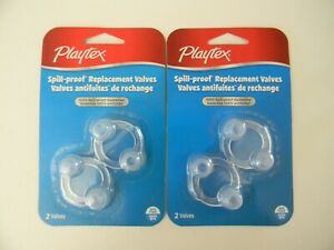 Playtex Spill-Proof Replacement Valves for Drinking Cups BPA Free (2 Packs)