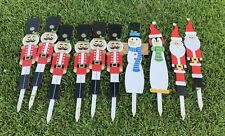 """10- 2' 6"""" Wooden Yard Stakes. Christmas Decorations"""