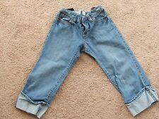 Girls Old Navy Blue Denim Jean Crop Capri Pants 14