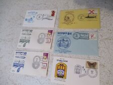 Assorted stamp club / Philatelic Society cards WestPex envelopes