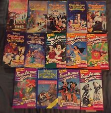 Disney Sing Along 14 VHS Zip Fly Fun Merry Laugh Guest Friend Colors Circle Sea+