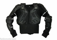 KIDS BODY ARMOUR JACKET MOTOCROSS CROSS QUAD PIT BIKE BLACK ENDURO MX OFF ROAD