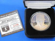 Highland Mint Jeff Bagwell Proof Silver Art Round MLB E2809