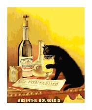 Absinthe Bourgeois Vintage Poster Cross-Stitch Pattern Chart by Bella Stitchery