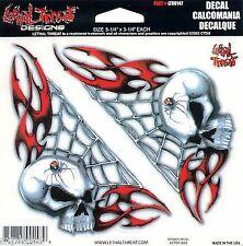 Sticker SPIDER SKULL - Made in USA - Style BIKER HARLEY