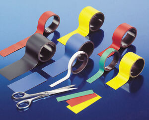 Magnetic Easy Dry Wipe Rack Labels & Location Markers, Widths 10 to 130mm widths