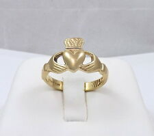 9K 9ct Gold Made in Ireland Irish Celtic Claddagh Ring Unisex  Sz 10.5