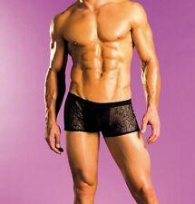 Mens Boxer Briefs Underwear One Size S M L Excite Black Spider Mesh Animal Print