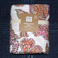 Pottery Barn Teen clarissa duvet cover only twin pink orange Windswept bloom