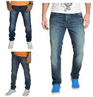 New Mens Jeans Pants Slim Fit Straight Leg Denim Trouser BNWT Designer Jeans