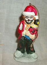 The Emmett Kelly Jr Collection Ornament From Flambro - Santa Clown w Toy Soldier