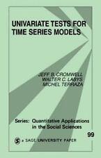 Quantitative Applications in the Social Sciences Ser.: Univariate Tests for...