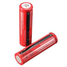 2PCS 18650 3800mAh 3.7V Rechargeable Li-ion Battery Flashlight Lamp Headlight