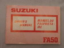 SUZUKI FA50 1988 OWNERS MANUAL  MANUEL DU PROPRIETAIRE