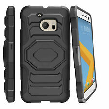 For HTC One M10 | HTC Lifestyle | HTC M10 Clip Stand Heavy Duty Black Case