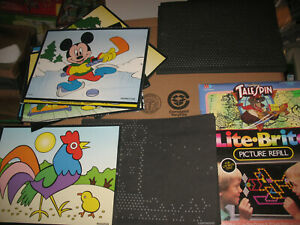 Lite Brite Refill Pages 31 Unpunched Unused Blank Sheets + TaleSpin Disney
