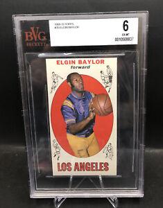 1969 Topps Basketball #35 Elgin Baylor BVG 6  HOF. RIP