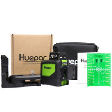 Laser level green Cross Line Laser Self Leveling Huepar 8 lines 130ft/40M