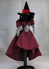 Barbie Doll Clothes The Wizard of Oz Wicked Witch East Dress Hat Red Black