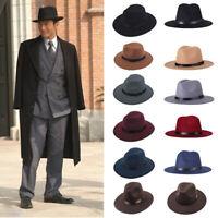 Men Fedoras Women Jazz Hat Autumn Winter Woolen Blend Cap Outdoor Casual Hat