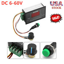 DC 30A Motor Speed Governor 6-60V PWM Speed Control Switch Controller Display