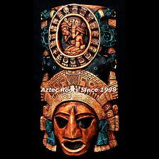Mayan Maya Mask Head Wall Plaque Aztec Mexico Sculpture Ancient Art Calendar