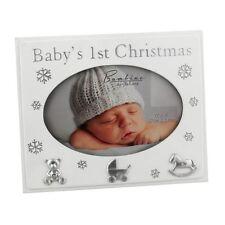 BABY PHOTO FRAME - BABY'S 1ST CHRISTMAS - CHRISTMAS PRESENT GIFT