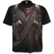 Spiral HOLSTER WRAP All Over Print T-Shirt, Goth Rock Metal Biker Tattoo Punk