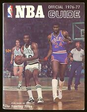 1976-77 The Sporting News NBA Guide book HOF Jo Jo White Boston Celtics EX+