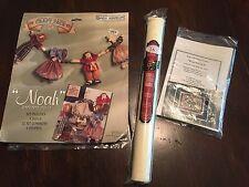 Lot of Cross Stitch Misc. - fabric, Klagetoh II kit, & Noah Garland Dolls