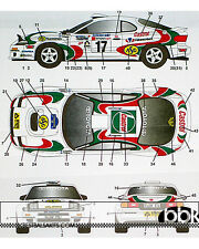 TOYOTA CELICA GT FOUR ST185 #17 1995 SWEDEN RALLY CASTROL DECAL for 1/24 TAMIYA