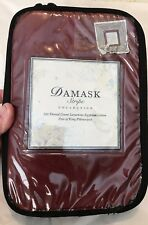Damask Stripe Collection 500 Count Egyptian Cotton Pair King Pillowcases: NIP