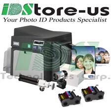 FARGO DTC4250e Single Side Complete Photo ID Card Printer System + Mag Encoder