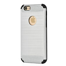 FOR APPLE iPHONE 5 6 7 8 METAL EFFECT TUFF TOUGH BUILDER STRONG HARD CASE COVER