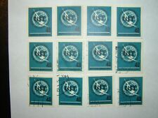 1965 WEST GERMANY I.T.U. STAMPS x 12 MNH/VFU (sg1397) CV £6