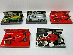 5 X MINICHAMPS~METALL~1:43~M. SCHUMACHER COLLECTION~EDITION 43~1+2+37+NEU+OVP !!