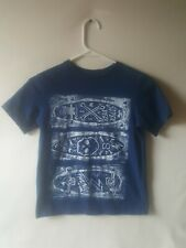 Place Boys Graphic Skateboard Design T-shirt Navy Blue Size M(7-8)