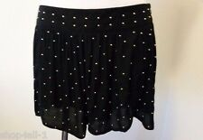 Minkpink Womans Shorts XS High Waisted Metal Studs Side Zipper Super Cute New