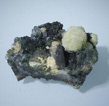 Superb Dark Olive Green Epidote Crystal & Quartz Mineral Specimen,47g,A11