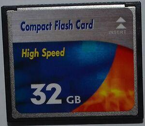 32GB CF Compact Flash Speicherkarte Erweiterung für PCMCIA mit CF Slot