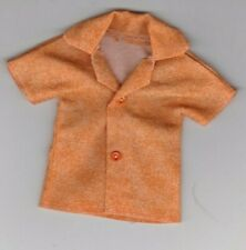 Homemade Doll Clothes-Oranges Print Shirt that fits Ken Doll B4